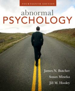 Test Bank (Downloadable Files) for Abnormal Psychology, 14th Edition, Butcher, 0205594956, 9780205594955