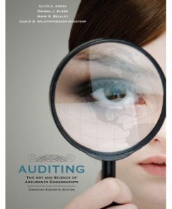 Test Bank (Downloadable Files) for Auditing: The Art and Science of Assurance Engagements, 11th Canadian Edition, Alvin A. Arens, 0132088061, 9780132088060