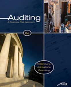 Test Bank (Downloadable Files) for Auditing A Business Risk Approach, 8th Edition, Rittenburg, 0538476230, 9780538476232