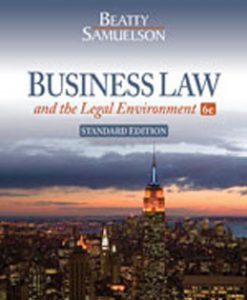 Test Bank (Downloadable Files) for Business Law and the Legal Environment, 6th Edition, Beatty, 1111530602, 9781111530600