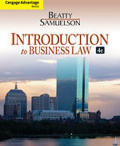 Test Bank (Downloadable Files) for Introduction to Business Law, 4th Edition, Beatty, 113318815X, 9781133188155