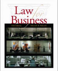 Solution Manual (Downloadable Files) for  Law for Business
