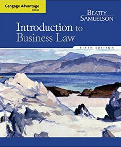 Solution Manual for Introduction to Business Law 5e Beatty