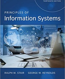Test bank for Principles of Information Systems 13th Edition by Stair