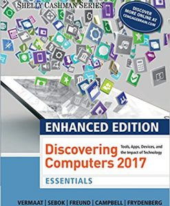 Test bank for Enhanced Discovering Computers ©2017