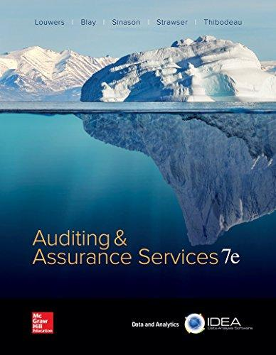 Test Bank Auditing & Assurance Services 7E Louwers