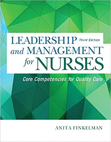 Test Bank for Leadership and Management for Nurses: Core Competencies for Quality Care,3rd Edition, Anita Finkelman, ISBN-10: 0134056981, ISBN-13: 9780134056982