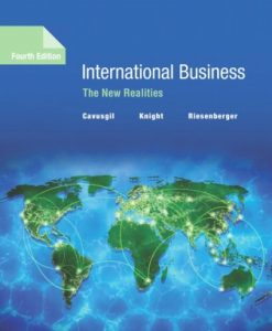 Test Bank for International Business: The New Realities 4th Edition S. Tamer Cavusgil