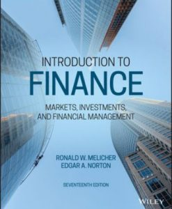 Test Bank for Introduction to Finance 17th Edition Ronald W. Melicher