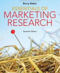 Test Bank for Essentials of Marketing Research 7th Edition Barry J. Babin