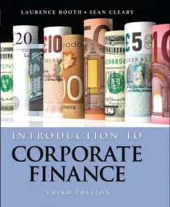 Solution Manual for Introduction to Corporate Finance 3rd Edition Laurence Booth