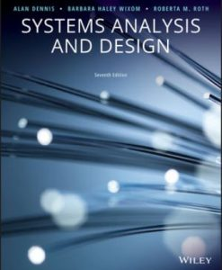 Solution Manual for Systems Analysis and Design 7th Edition Alan Dennis