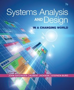 Solution Manual for Systems Analysis and Design in a Changing World 7th Edition John W. Satzinger