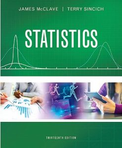Solution Manual for Statistics 13th Edition James T. McClave