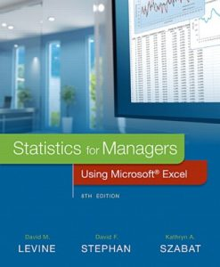 Solution Manual for Statistics for Managers Using Microsoft Excel 8th Edition David M. Levine