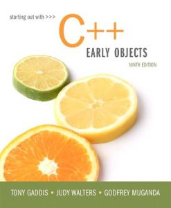 Solution Manual for Starting Out with C++: Early Objects 9th Edition Tony Gaddis