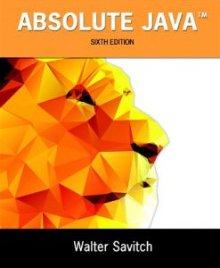 Test Bank (Downloadable Files) for Absolute Java 6th Edition Savitch