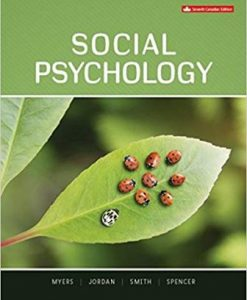 Test Bank for Social Psychology 7th Canadian Edition David Myers