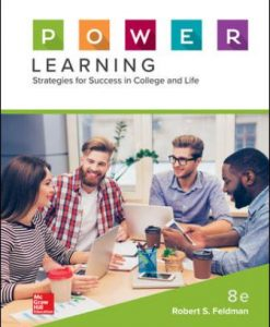 Test Bank for P.O.W.E.R. Learning: Strategies for Success in College and Life 8th Edition Robert Feldman