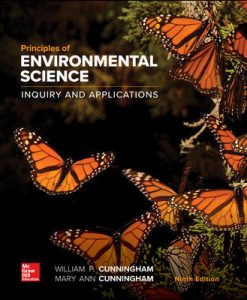 Solution Manual (Downloadable Files) for Principles of Environmental Science 9th Edition Cunningham