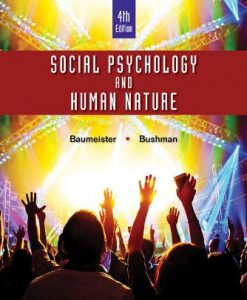 Test Bank for Social Psychology and Human Nature Comprehensive Edition 4th Edition Roy F. Baumeister
