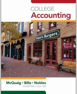 Solution Manual for College Accounting Chapters 1-12 10th Edition Douglas J. McQuaig