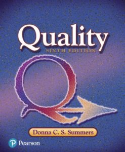 Test Bank (Downloadable Files) for Quality 6th Edition Summers