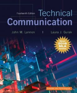 Test Bank (Downloadable Files) for Technical Communication, MLA Update 14th Edition Lannon