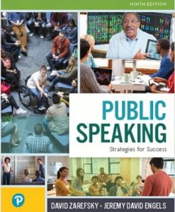 Solution Manual (Downloadable Files) for Public Speaking: Strategies for Success 9th Edition Zarefsky