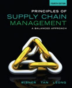 Solution Manual (Downloadable Files) for Principles of Supply Chain Management: A Balanced Approach 4th Edition Wisner