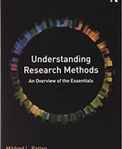 Test Bank for Understanding Research Methods 10th Edition Patten