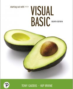 Test Bank for Starting Out With Visual Basic 8th Edition Gaddis