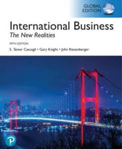 Test Bank for International Business: The New Realities, Global Edition 5th Edition Cavusgil