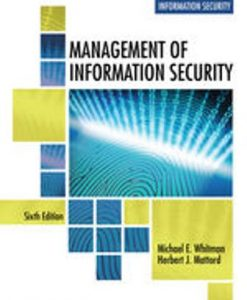 Test Bank for Management of Information Security 6th Edition Whitman
