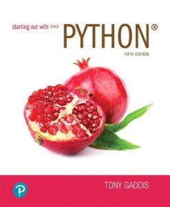 Solution Manual for Starting out with Python 5th Edition Gaddis