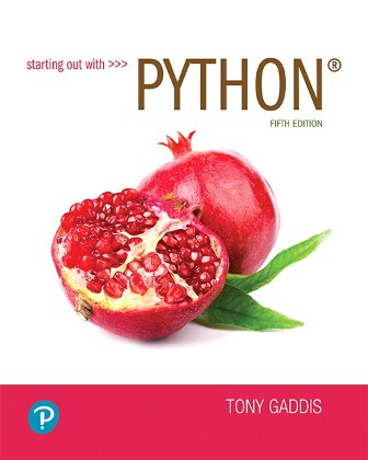 Test Bank for Starting out with Python 5th Edition Gaddis