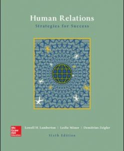 Solution Manual for Human Relations 6th Edition Lamberton