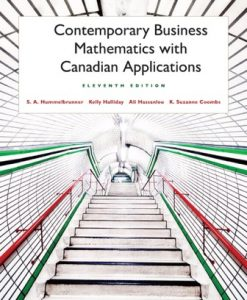 Solution Manual for Contemporary Business Mathematics with Canadian Applications 11th Edition Hummelbrunner