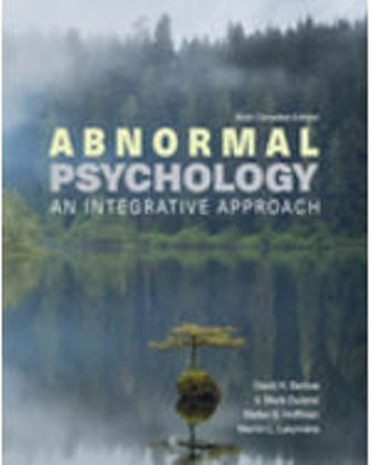 Test Bank for Abnormal Psychology: An Integrative Approach 6th Edition Barlow
