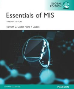 Solution Manual for Essentials of MIS Global Edition 12th Edition Laudon