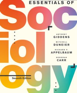 Test Bank for Essentials of Sociology 7th Edition Giddens