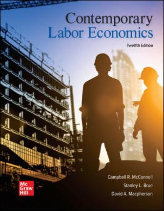 Test Bank for Contemporary Labor Economics 12th Edition McConnell