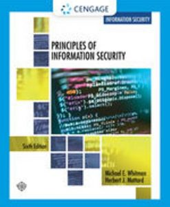 Solution Manual for Principles of Information Security 6th Edition Whitman