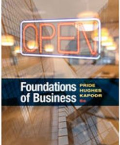 Test Bank for Foundations of Business 6th Edition Pride