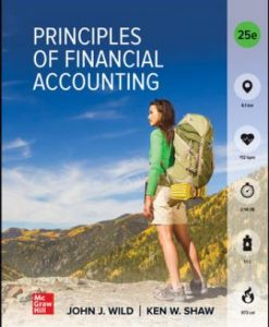 Test Bank for Principles of Financial Accounting (Chapters 1-17) 25th Edition Wild
