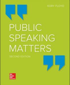 Test Bank for Public Speaking Matters 2nd Edition Floyd