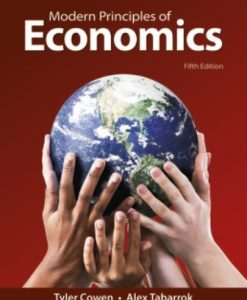 Solution Manual for Modern Principles of Economics 5th Edition Cowen