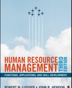 Solution Manual for Human Resource Management 3rd Edition Lussier