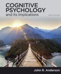 Test Bank for Cognitive Psychology and Its Implications 9th Edition Anderson